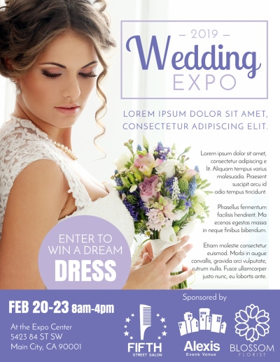 Wedding Expo Flyer Template Preview 1