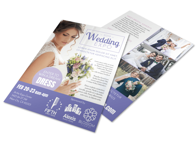 Wedding Expo Flyer Template Preview 1