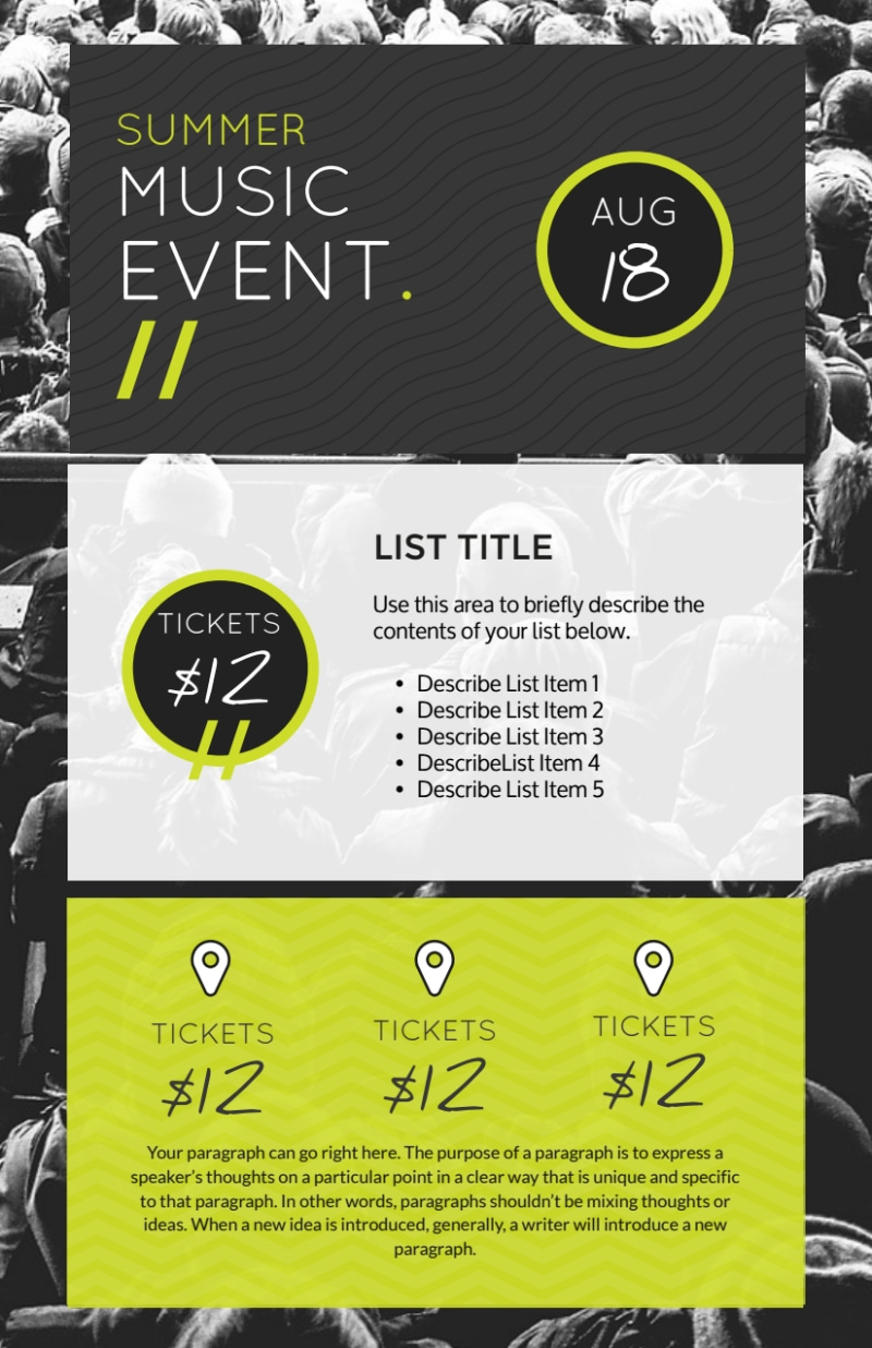 Awesome Summer Music Event Flyer Template Preview 2