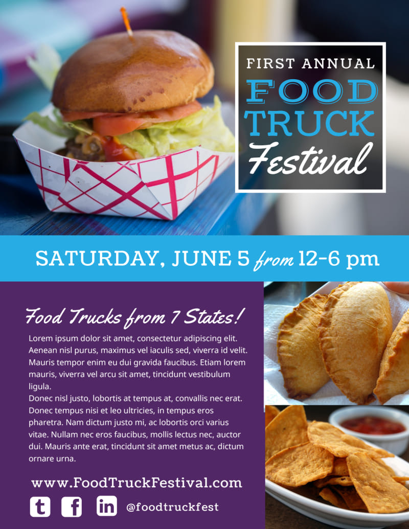 Food Truck Festival Flyer Template Preview 2