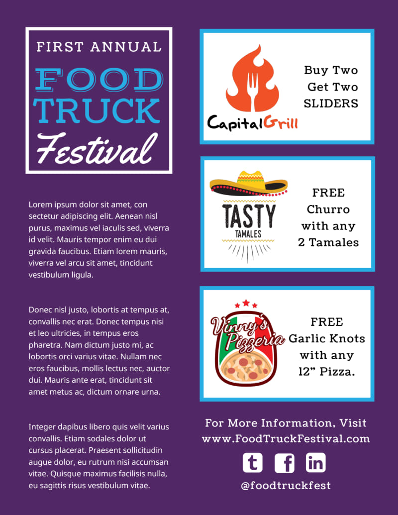 Food Truck Festival Flyer Template Preview 3