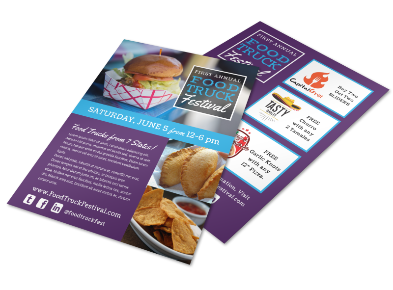 Food Truck Festival Flyer Template Preview 1