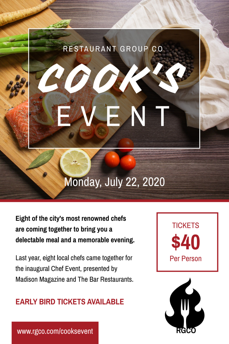 Awesome Cooking Event Poster Template Preview 2