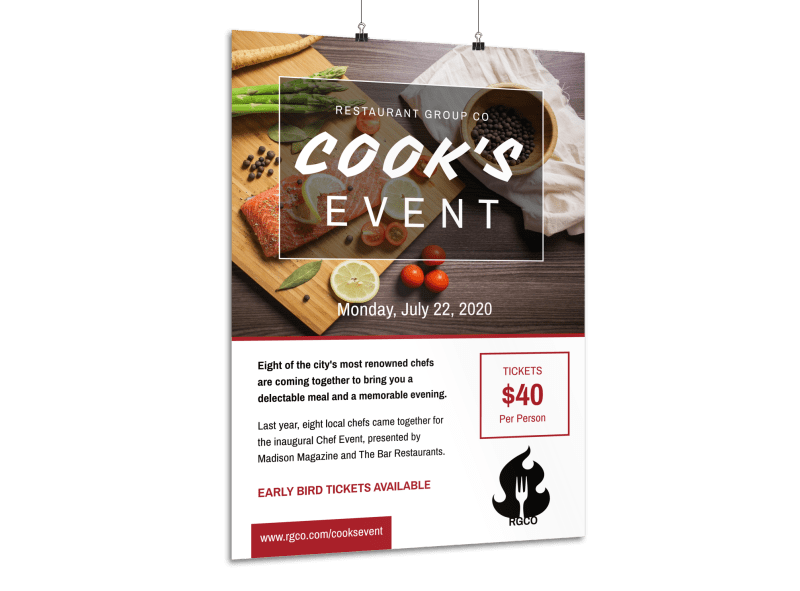 Awesome Cooking Event Poster Template Preview 1