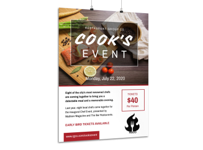 Awesome Cooking Event Poster Template preview