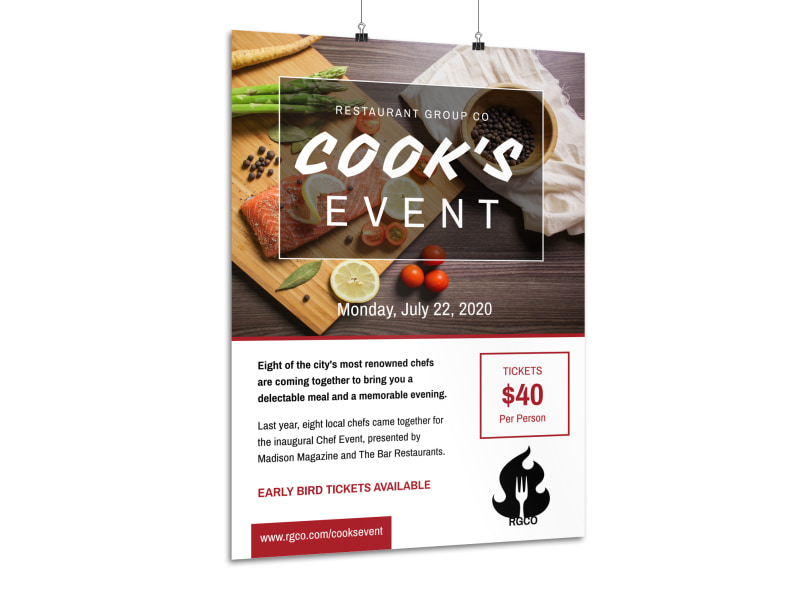 Awesome Cooking Event Poster Template Preview 3