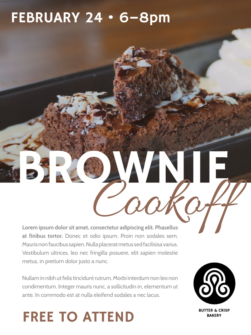 Brownie Cookoff Poster Template Preview 2