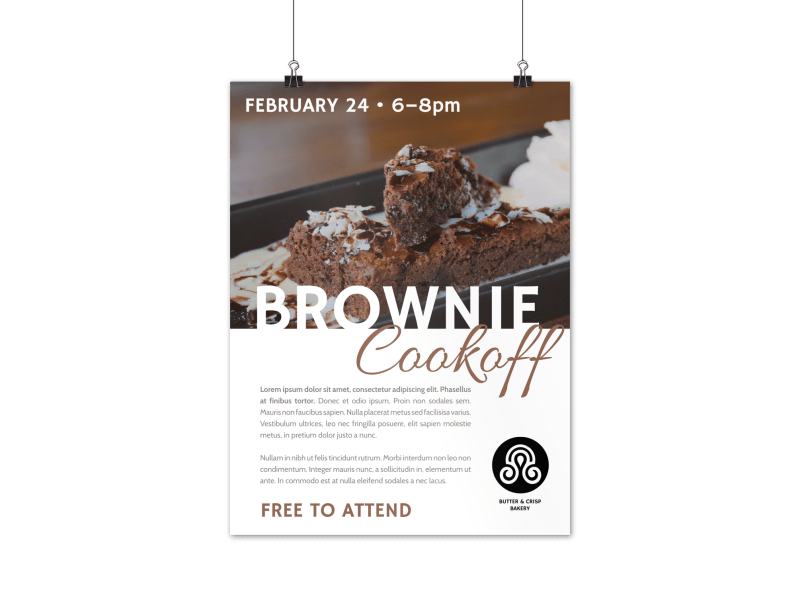 Brownie Cookoff Poster Template Preview 1