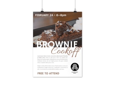 Brownie Cookoff Poster Template preview
