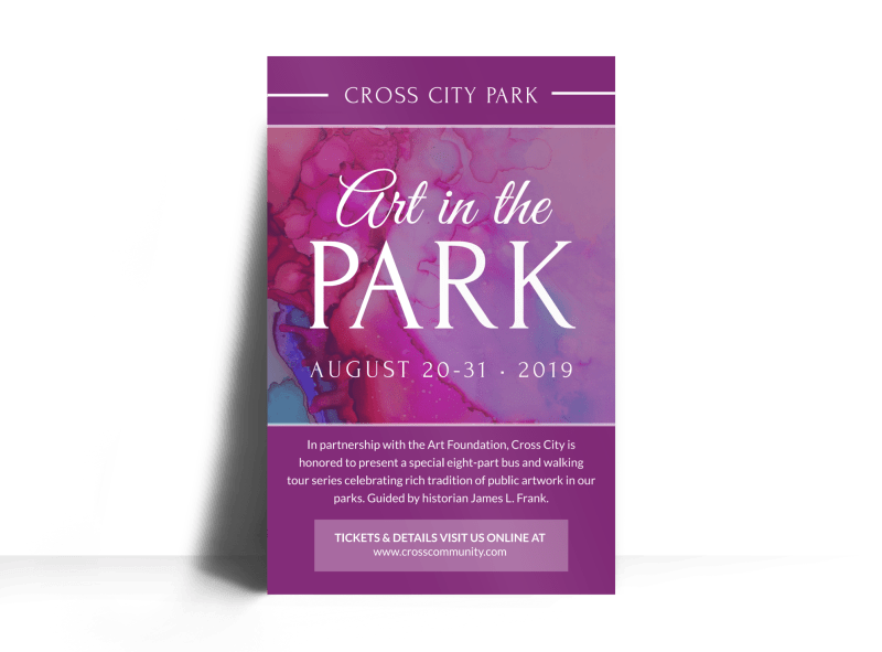 Art In The Park Poster Template Preview 1