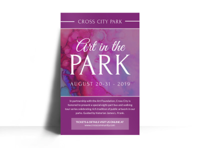 Art In The Park Poster Template preview