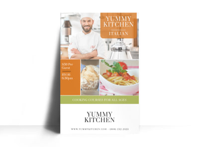 Cooking Courses Event Poster Template
