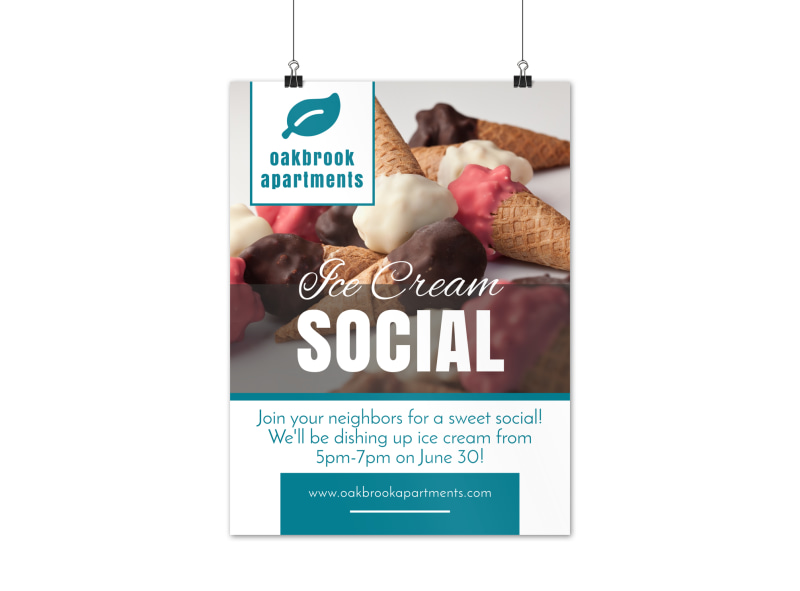 Ice Cream Social Poster Template
