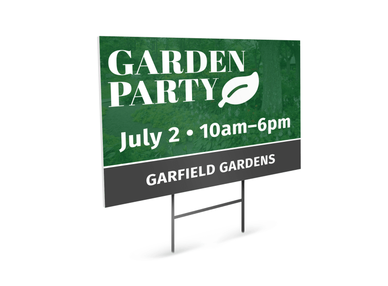 Garden Party Event Yard Sign Template Preview 1