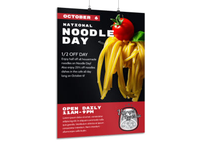 National Noodle Day Poster Template