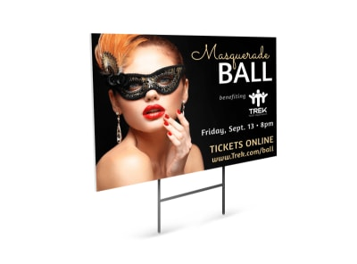 Masquerade Ball Yard Sign Template preview