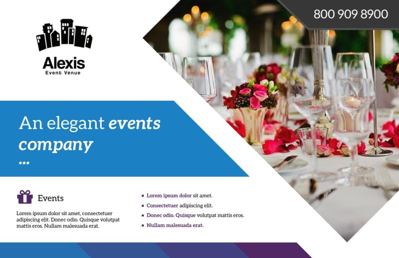 Elegant Event Postcard Template Preview 2