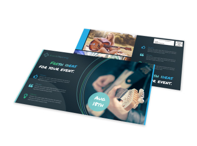 Fresh Event EDDM Postcard Template preview