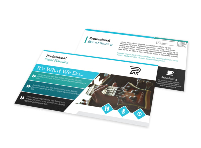 Professional Event Planning EDDM Postcard Template preview