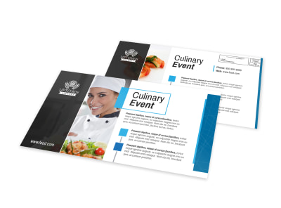 Culinary Event EDDM Postcard Template preview