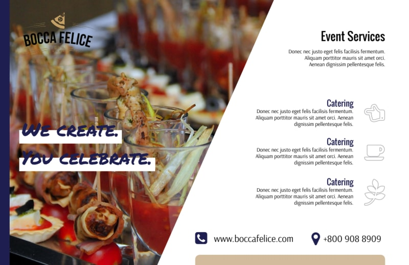 Event Services Postcard Template Preview 3