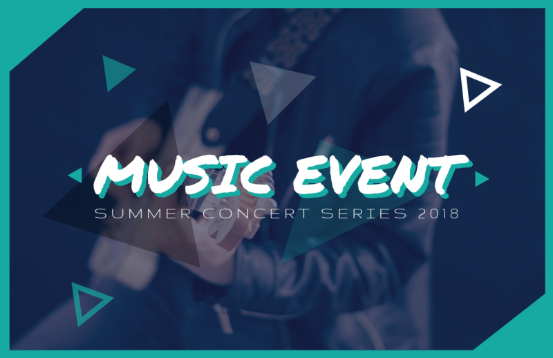 Summer Music Event Postcard Template Preview 2