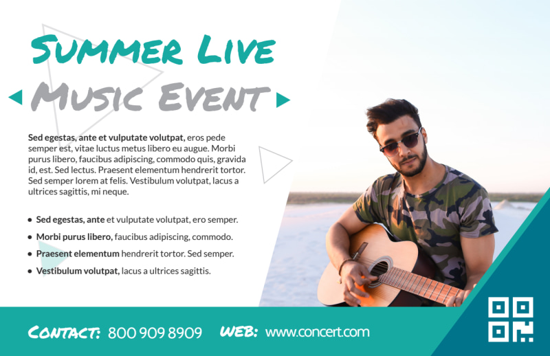 Summer Music Event Postcard Template Preview 3