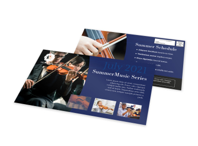 Summer Music Event EDDM Postcard Template preview