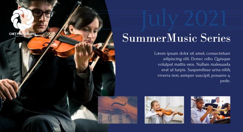 Summer Music Event EDDM Postcard Template Preview 2