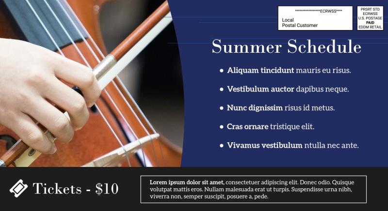 Summer Music Event EDDM Postcard Template Preview 3