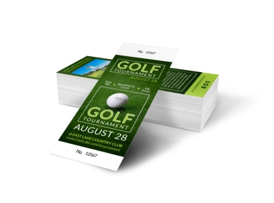 Club Golf Tournament Ticket Template