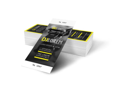 DJ Event Ticket Template preview