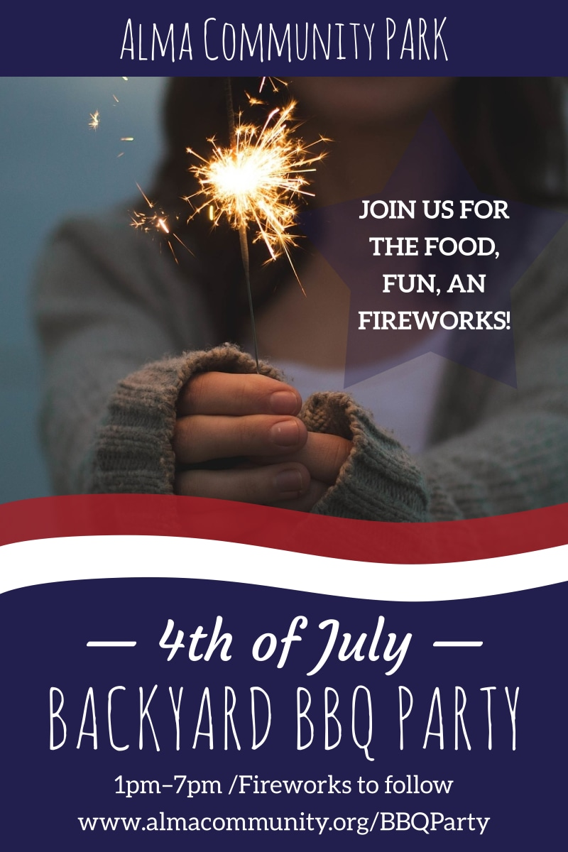 4th Of July Backyard BBQ Poster Template Preview 2