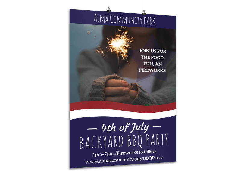 4th Of July Backyard BBQ Poster Template Preview 1