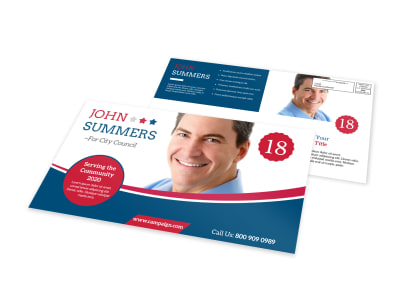 Classic Campaign EDDM Postcard Template preview
