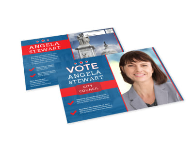 Vote Campaign EDDM Postcard Template preview
