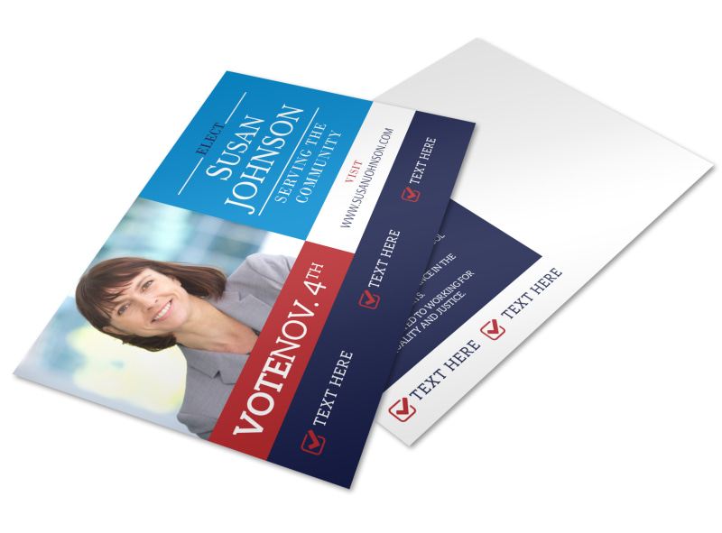 Election Campaign Postcard Template Preview 4