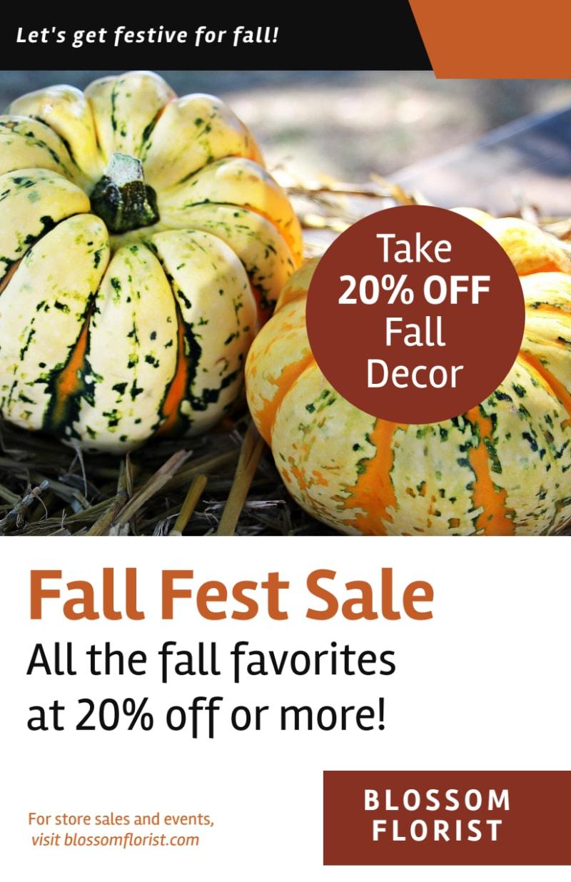 Halloween Fall Fest Flyer Template Preview 2