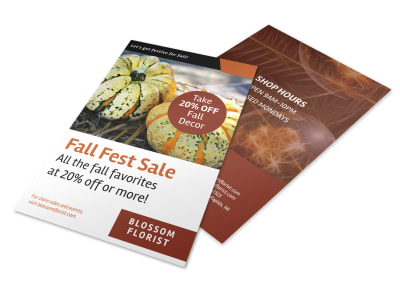 Halloween Fall Fest Flyer Template preview