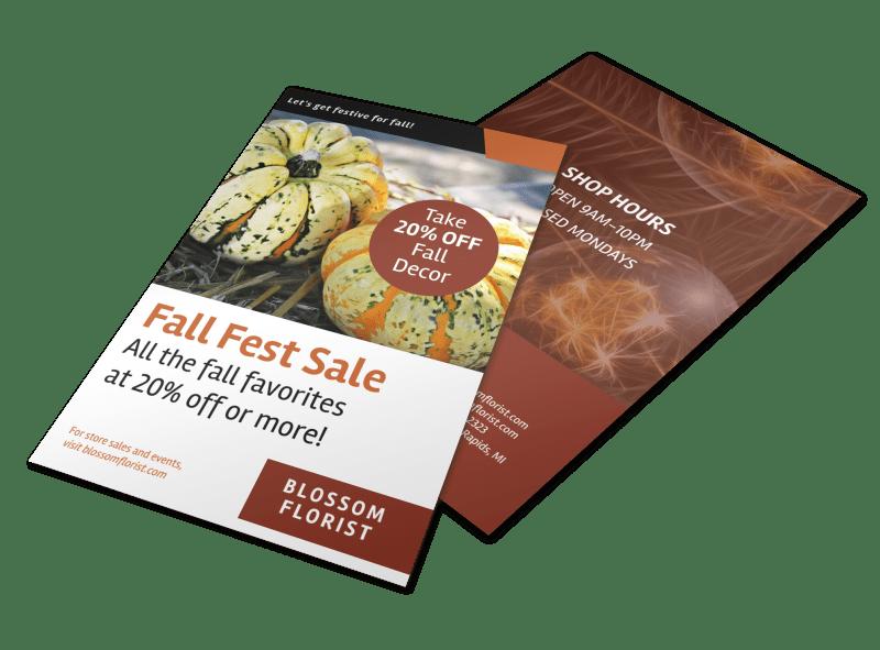 Halloween Fall Fest Flyer Template Preview 1