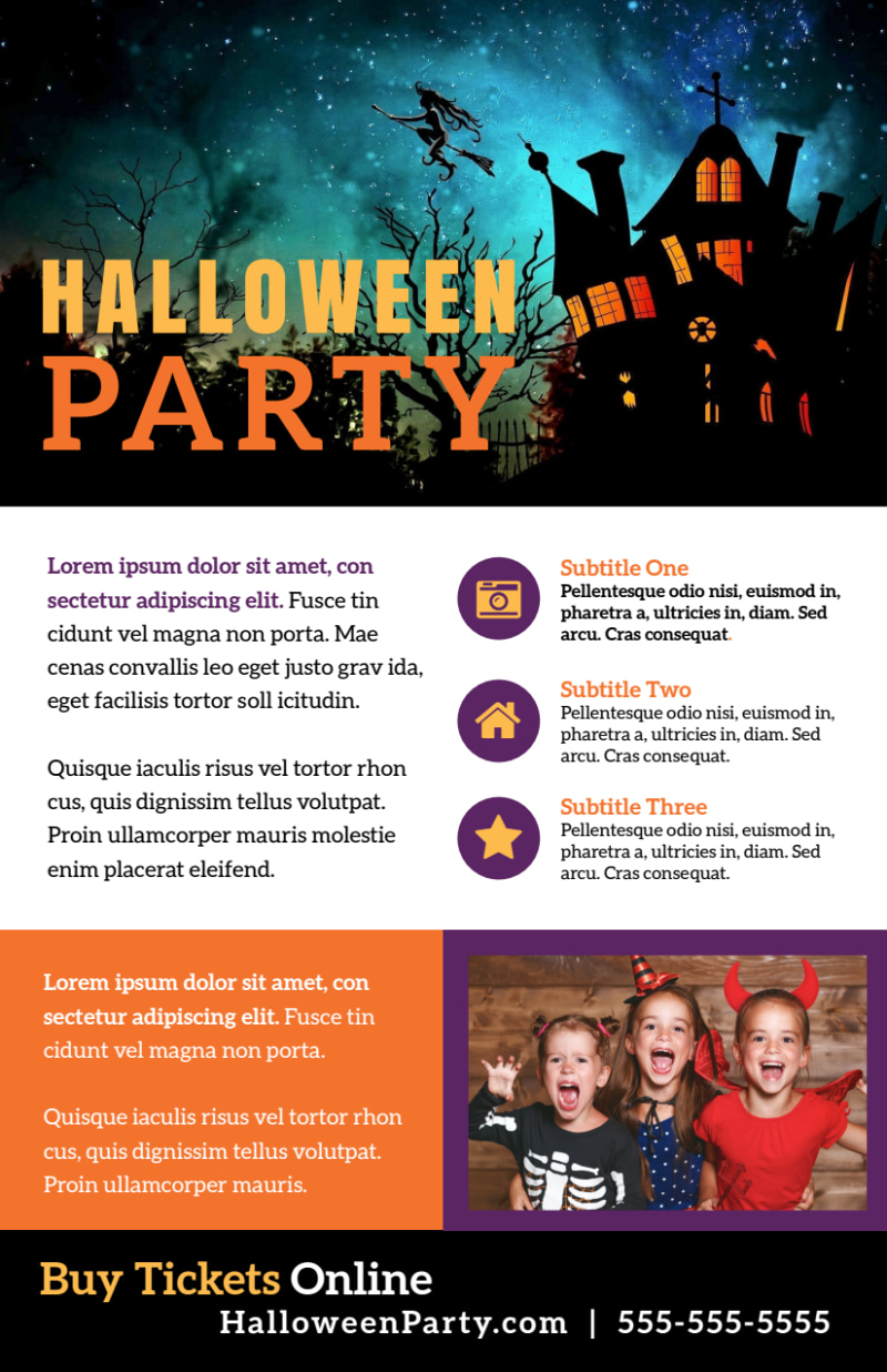 Halloween Party Info Flyer Template Preview 2