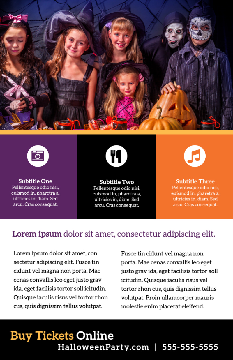 Halloween Party Info Flyer Template Preview 3