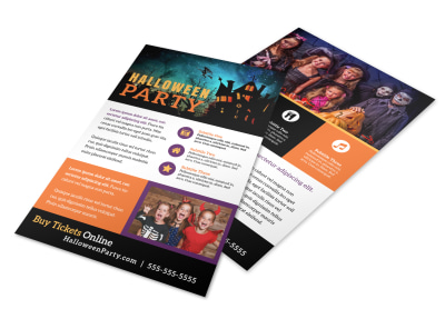 Halloween Party Info Flyer Template preview