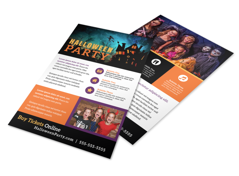 Halloween Party Info Flyer Template Preview 1