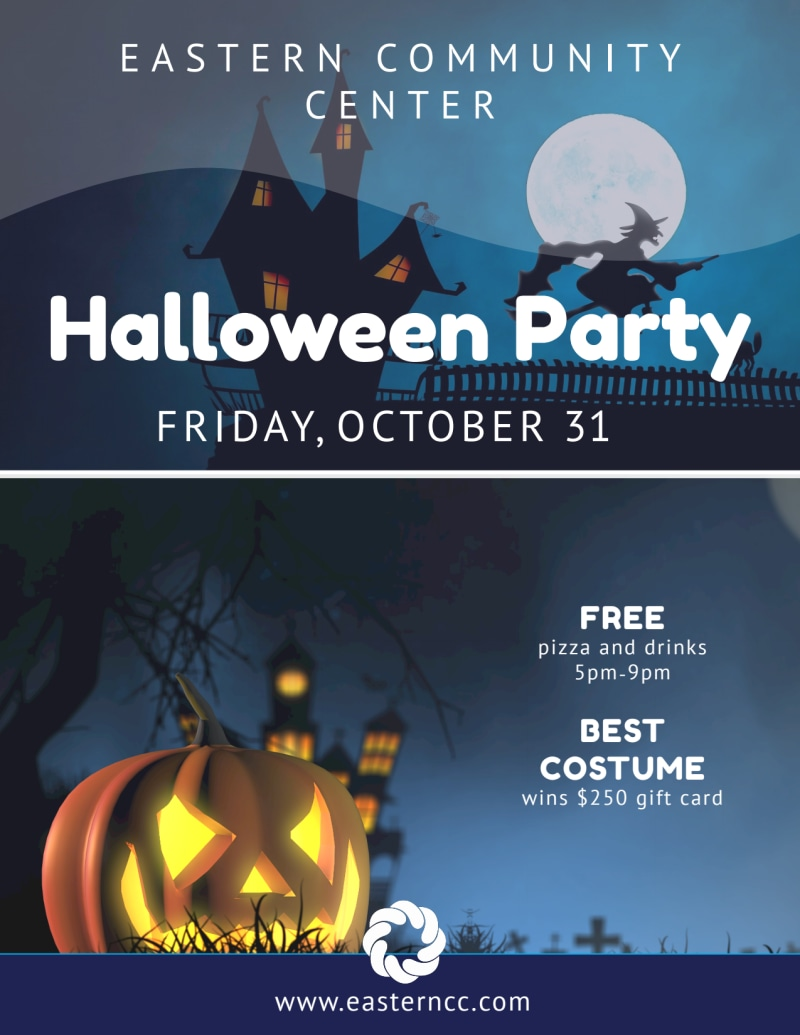 Halloween Costume Party Flyer Template Preview 2