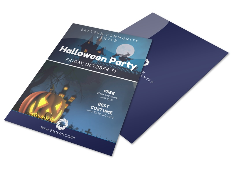 Halloween Costume Party Flyer Template Preview 4