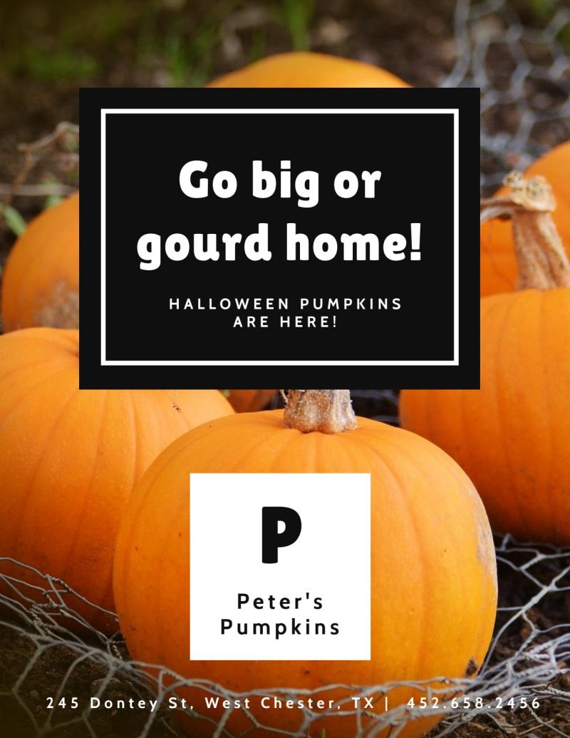 Halloween Gourd Flyer Template Preview 2