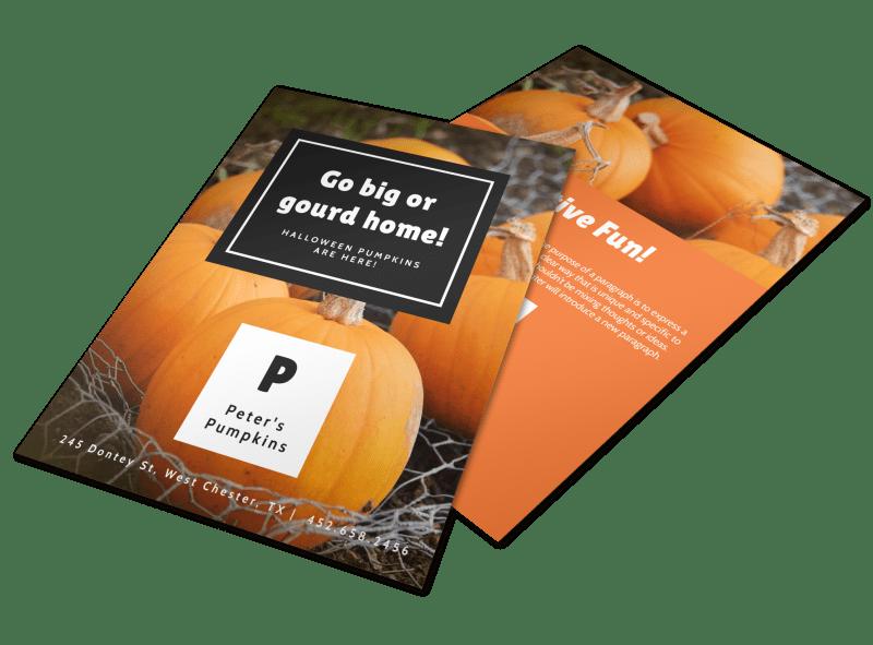 Halloween Gourd Flyer Template