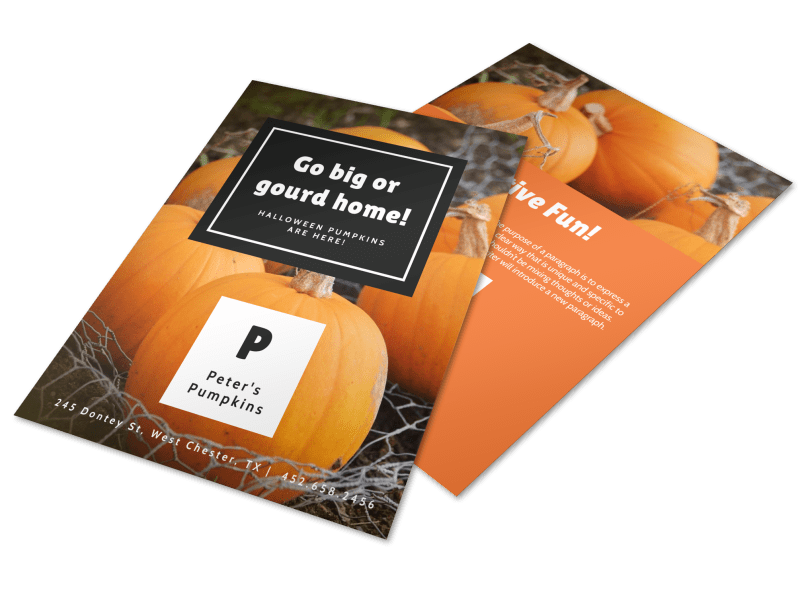Halloween Gourd Flyer Template Preview 1