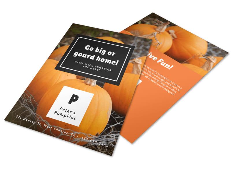 Halloween Gourd Flyer Template Preview 4